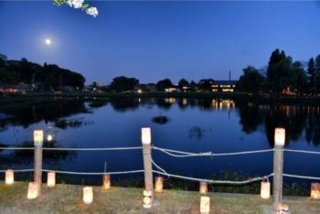 八鶴湖畔の観月会(十五夜)